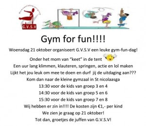 gym for fun 21 okt